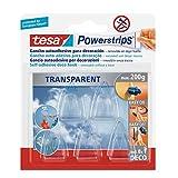 Tesa TE58900-00014-02 transparentes, 5 ganchos + 8 Tiras