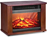 Electric Fireplace Heater, Fireplace Space Heater with 3D Flames Effect, Indoor Fireplace Heater Stove with 3s Instant Heat, 300Sq Ft Heat Area, Overheat Protection, Energy Saving, 1200W