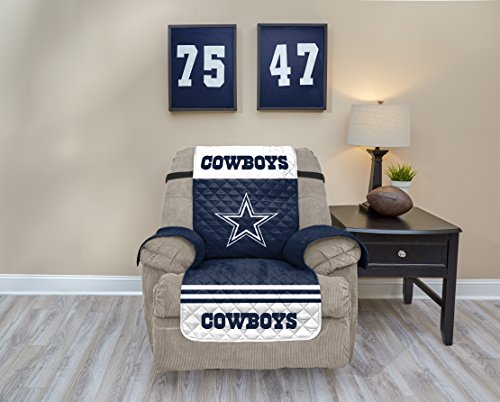 Pegasus Sports NFL Dallas Cowboys Recliner Waterproof Furniture Protectors with Pockets