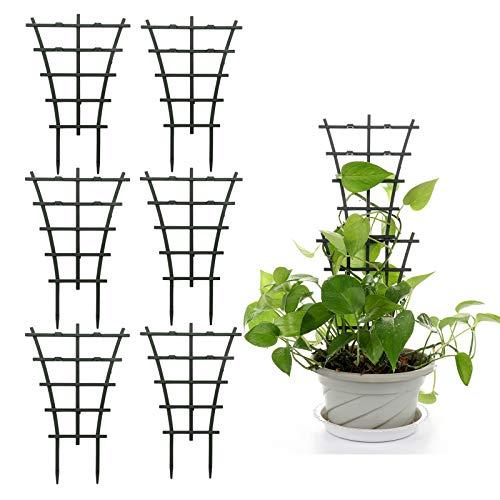 TETHYSUN Rankhilfe für Kletterpflanzen, 6/12 Stück, Mini-Rankgitter, überlagert, Pflanzenwachstumsunterstützung, Blumenstützen für Topfpflanzen, Kletterpflanzen