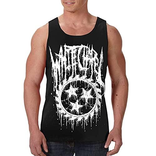 Whitechapel Tank Top Camiseta sin Mangas para Hombre Gym Training Chaleco Deportivo Camiseta con Cuello Redondo