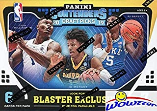 2019/20 Panini Contenders Draft Picks Basketball EXCLUSIVE Factory Sealed Retail Box with AUTOGRAPH! Look for Rookies & Autos of ZION WILLIAMSON, RJ Barrett, Ja Morant, Rui Hachimura & More! WOWZZER!