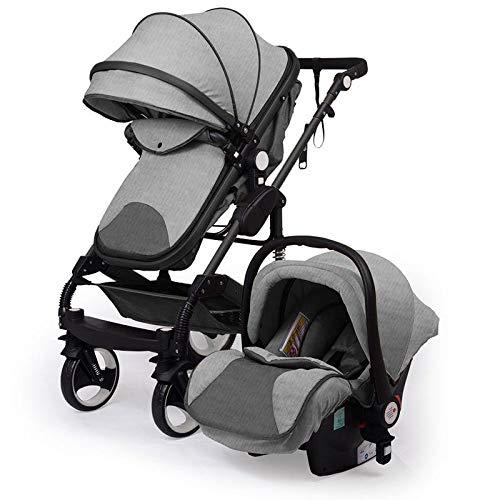 """Kinderwagen """"California"""", 3 in 1 Kombikinderwagen Megaset 8 teilig inkl. Babyschale, Sportwagen, Babywanne und Zubehör, zertifiziert nach der Sicherheitsnorm EN1888, Jeans"""