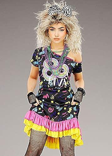 ¡no ser extrañado! Disfraz de Diva de los años años años 80 para mujer Medium (UK 10-12)  Mercancía de alta calidad y servicio conveniente y honesto.