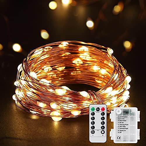 Cadena de Luces Guirnalda de Luces 10M 100 LED Impermeable de 8...