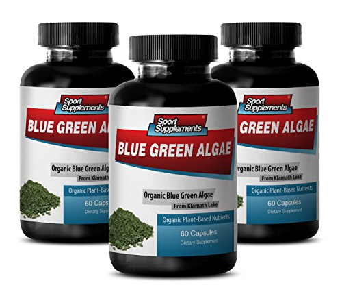 Supreme Immune System Supplement - Klamath Blue Green Algae 500mg (3 Bottles 180 Capsules)