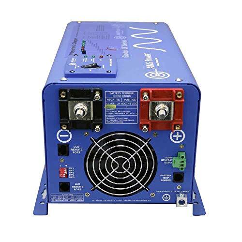 AIMS PICOGLF20W12V120VR 2000 Watt and 6000 Watt Surge 12 VDC Input to 120 VAC Output Pure Sine Inverter Charger Backup Power