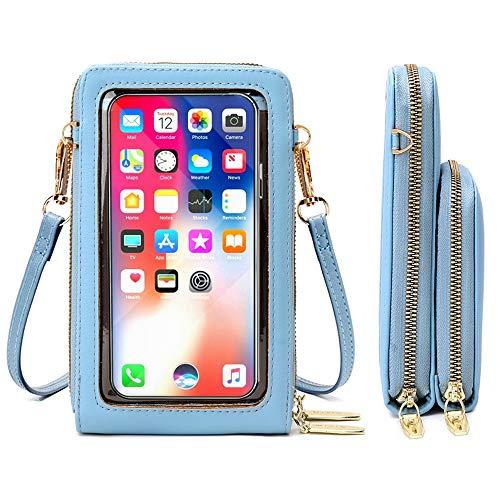 Jangostor Pequeño bolso cruzado para teléfono móvil, cartera con ranuras para tarjetas de crédito para mujer