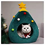 Smniao Katzenbett Waschbar Weihnachten Hundebetten Haustierbett Hundesofa Katzensofa Schlafplatz für