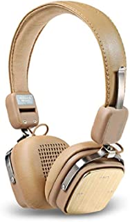 REMAX Wireless Music Bluetooth Headphones 200Hb Headset with HD Mic Noise Cancelling HiFi Sound 3D Stereo Bass for Music Phone … (brown)