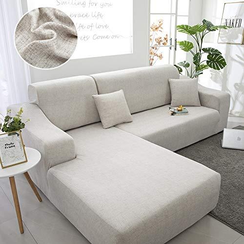 Funda de sofá elástica geométrica para Sala de Estar Funda de sofá de Esquina Funda de sofá en Forma de L Funda de sofá A10 2 plazas