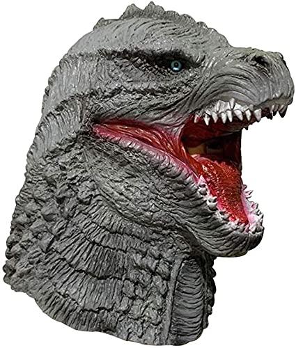 WHXL Godzilla Máscara de juego de roles, máscara de horror de fiesta de vacaciones, máscara de dinosaurio de látex
