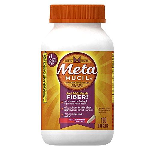 Metamucil Daily Fiber Supplement, 160 Capsules