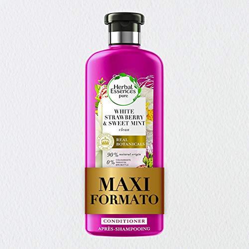 Herbal Essences Balsamo, Fragola Bianca e Menta Dolce, Idrata Delicatamente, in Collaborazione con Giardini Botanici Reali di Kew, 360 ml