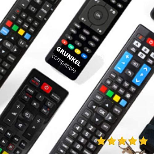 Mando TV GRUNKEL - *Pilas Incluidas* - Mando A Distancia TELEVISIÓN GRUNKEL - Mando TELEVISOR GRUNKEL Mando A Distancia para GRUNKEL - Compatible Todas Las Funciones GRUNKEL