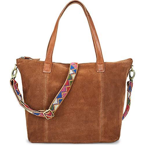 Cox Damen Ethno-Shopper Braun Leder 0