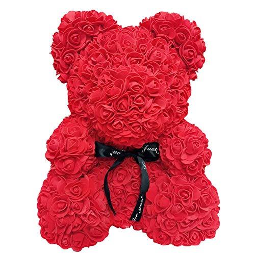 CerisiaAnn Rosen Künstlicher Romantischer Bär, Geschenk für Valentinstag, Geburtstag, Hochzeit und Jubiläen, weinrot (rot)