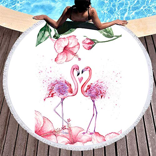 Flamingo Beach handdoek microvezel, zachte handdoek materiaal kan worden gebruikt als picknick Mat Yoga Mat, 150X150Cm Ik