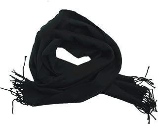 Black Wholesale Lot Unisex 100% CASHMERE SCOTLAND Scarf Pure Solid Colored Super Soft 12 pcs #CPAS