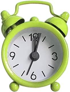 Fan-Ling 1PCS Alarm Clock,Creative Cute Mini Metal Small Alarm Clock Electronic Small Alarm Clock,Designed exquisitely, Durable (Green)
