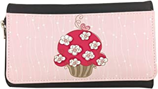 Cake flowers Printed Leather Case Wallet