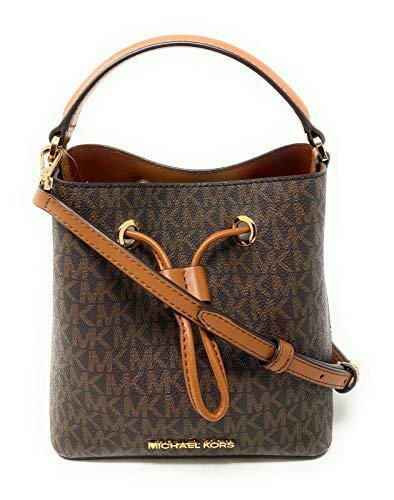 Michael Kors Suri Small Bucket Shoulder Bag(Brown PVC)