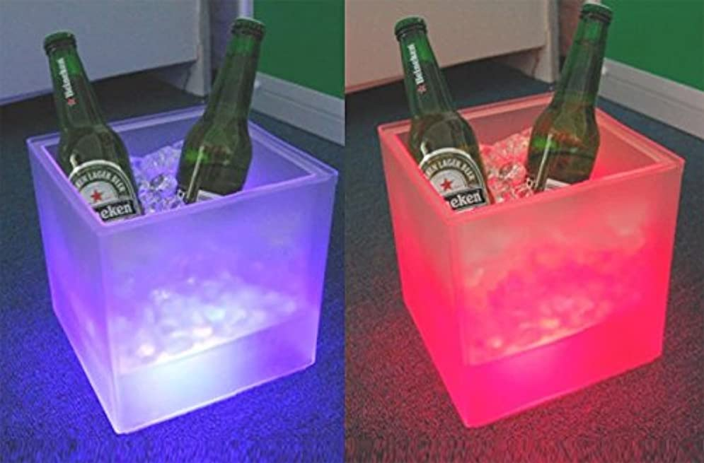 ステップハッチ過度に電光ホーム 光る ワインクーラー スクエア型 電池型 SP4 (ピンク)