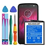 Motorola Moto Z2 Force Battery, MAXBEAR 2900mAh Li-Polymer Replacement HD40 Battery for Motorola Moto Z2 Force XT1789 SN5987A with Repair Screwdriver Kit Tools [12 Month Warranty]