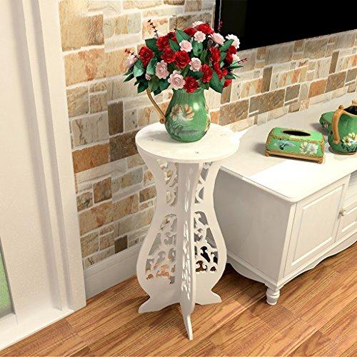 LT Aufbewahrungsbehälter Blumenrahmen Eisen Mehrstöckig Indoor Wohnzimmer Montage Lagerung Einheit Balkon Boden Typ Objekte (weiß, Holz-Kunststoff-Board)