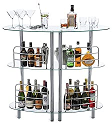 in budget affordable Mango Steam Contemporary Modern Home Liqueur Bar Catalina Table Tempered Glass