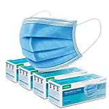 Tenergy Triple-layer Filtration Disposable Face Masks with Nose Clip and Ear Loops, 200 Masks