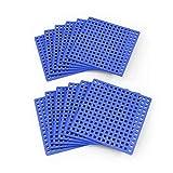 Plus Plus Bauplatten 12 Stück - blau   Konstruktionsmaterial Bausteine