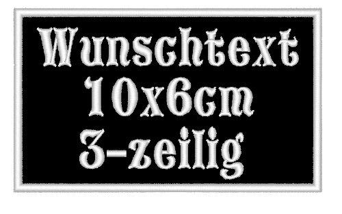 Aufnäher/Patch 10 x 6cm Wunschtext - Rechteck Rec1 - personalisiert