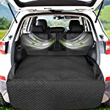 Honest Cargo Liner, SUV Cargo Liner for Dogs with Mesh Window,Waterproof Pet Cargo Cover Dog Seat Cover Mat for SUVs Sedans Vans,Non-Slip Bumper Flap Protector,Large Size Universal Fit