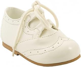 Chaussures à lacets pour bébé garçon pour baptême ou mariage