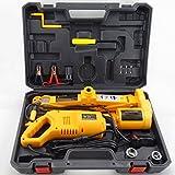 Anesty 2.5 Ton 12V Automotive Electric Scissor Car Jack Floor Lift + 1/2' Impact Wrench Lifting Kit Combo