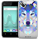 Caseink - Coque Housse Etui pour Wiko Sunny [Crystal Gel HD Polygon Series Animal -...