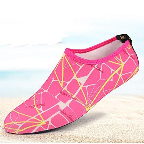 WEIZI 1/5 / 10Pcs Respirable Cómodo SnorkelDeporte De La Natación De Agua Calcetines Anti Slip Zapatos De Yoga De La Aptitud De Danza Beach Calcetines Txtb1,6, XXL