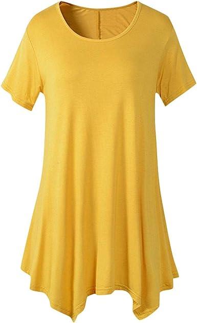 FAMILIZO Camisetas Mujer Verano Blusa Mujer Elegante Camisetas Mujer Largas Manga Corta Algodón Camisetas Mujer Fiesta Camisetas Originales Camisetas ...