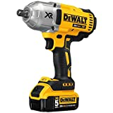 DEWALT 20V MAX XR Cordless Impact Wrench Kit with Detent Anvil,...