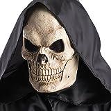 Maschera teschio con mandibola mobile Maschera scheletro con mandibola mobile in plastica in busta con cav Rendi speciale la tua festa