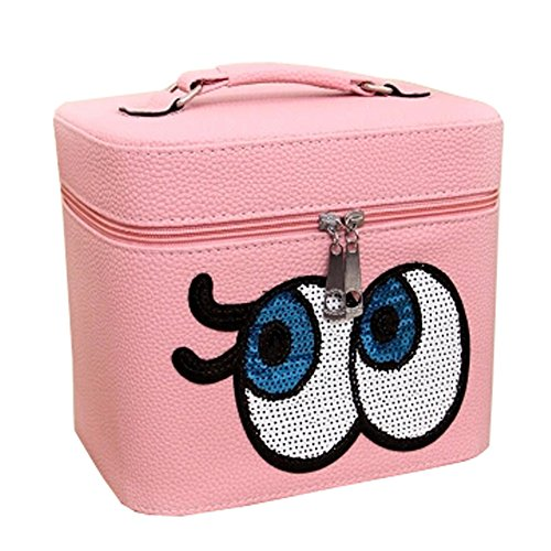 Mignon Maquillage Yeux Voyage Cosmetic Bag / Box cosmétique, Rose