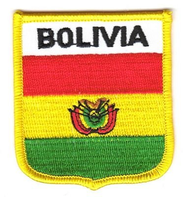 Wappen Aufnäher Patch Bolivien Flagge Fahne NEU
