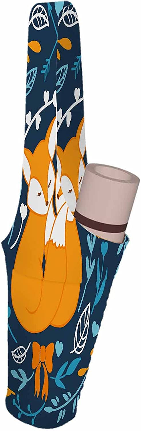 SSOIU Foxes Yoga Mat Bag High quality cuddle lover woodland Max 49% OFF couple forest ani