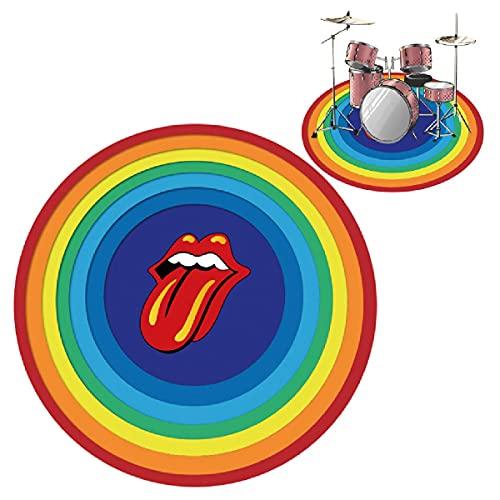 PPGE Home Schlagzeugteppich, Rund Schlagzeug Teppich Drum Teppich, Schallschutzmatte Trommel, Bass Drum Snare Rug, Drums Matte, Elektronische Trommel Jazztrommel Klavier Schallschutz TeppichD-160CM