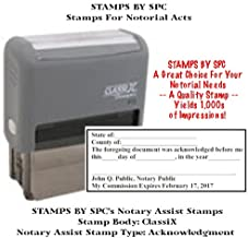 NOTARY SUPPLIES // CUSTOM CLASSIX // SELF-INKING CUSTOM NOTARY ACKNOWLEDGEMENT STAMP // Impression: 1 1/2