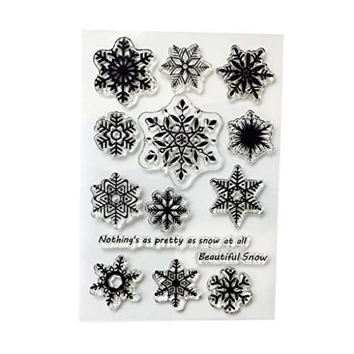 Carry stone Schneeflocke DIY Silikon Clear Stamp Cling Siegel Sammelalbum Prägung Album Decor