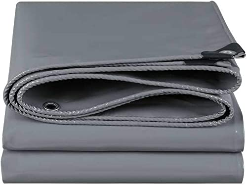 ATR Fangshuibu Baches Auvent Tissu 500g   m \u0026 sup2; Bache de Prougeection Solaire imperméable en Tissu Anti-Pluie argenté, bache de Prougeection Professionnelle 0.45mm (Couleur  gris, Taille  4  4m