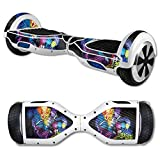 MightySkins Carbon Fiber Skin for Self Balancing Mini Scooter Hover Board - Midnight Mischief | Protective, Durable Textured Carbon Fiber Finish | Easy to Apply | Made in The USA