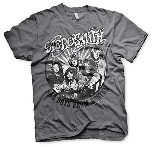 Aerosmith Boston 2 Joe Perry Steven Tyler Rock Oficial Camiseta para Hombre (XX-Large)